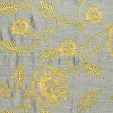 Gold On Grey Drapery and Upholstery Fabric by Scalamandre