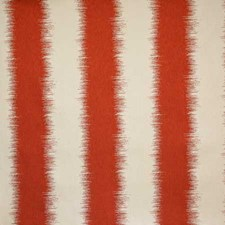 Tomato Stripe Drapery and Upholstery Fabric by Pindler