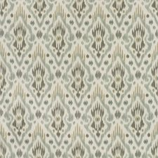 White/Green/Grey Ethnic Drapery and Upholstery Fabric by Kravet