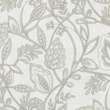 Grey Embroidery Drapery and Upholstery Fabric by Duralee