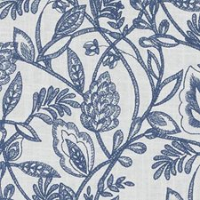 Marine Embroidery Drapery and Upholstery Fabric by Duralee
