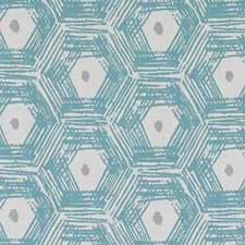 Aquamarine Abstract Drapery and Upholstery Fabric by Duralee