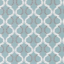 Aqua Geometric Drapery and Upholstery Fabric by Duralee