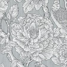 Grey Leaf Drapery and Upholstery Fabric by Duralee