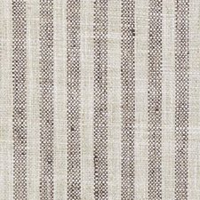 Natural/Brown Stripe Drapery and Upholstery Fabric by Duralee