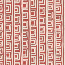 Strawberry Stripe w Drapery and Upholstery Fabric by Duralee