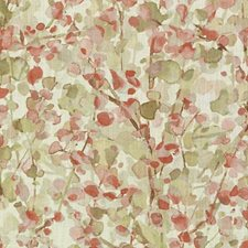 Pink/Green Leaf Drapery and Upholstery Fabric by Duralee