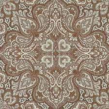 Natural/Red Paisley Drapery and Upholstery Fabric by Duralee