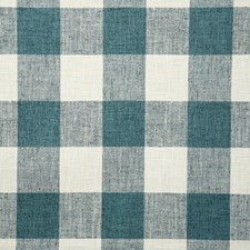 Teal Check Drapery and Upholstery Fabric by Pindler