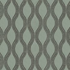 Grey/Silver Scroll Drapery and Upholstery Fabric by JF
