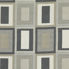 Linen/Charcoal Print Drapery and Upholstery Fabric by Threads