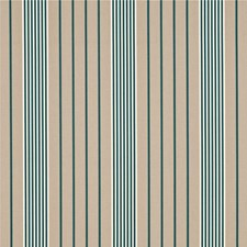 Teal Stripes Drapery and Upholstery Fabric by Threads