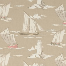 Taupe Large Scale Drapery and Upholstery Fabric by Clarke & Clarke