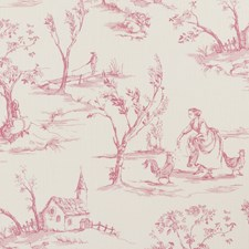 Raspberry Animal Drapery and Upholstery Fabric by Clarke & Clarke