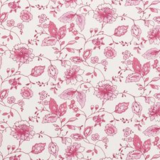 Raspberry Floral Vine Drapery and Upholstery Fabric by Clarke & Clarke