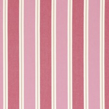 Raspberry Stripes Drapery and Upholstery Fabric by Clarke & Clarke