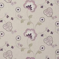 Orchid Embroidery Drapery and Upholstery Fabric by Clarke & Clarke