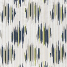 Indigo/Chartreuse Weave Drapery and Upholstery Fabric by Clarke & Clarke