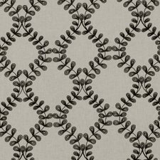 Charcoal Embroidery Drapery and Upholstery Fabric by Clarke & Clarke