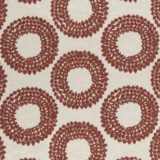 Cinnabar Weave Drapery and Upholstery Fabric by Clarke & Clarke