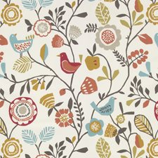 Spice Birds Drapery and Upholstery Fabric by Clarke & Clarke