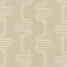 Spice/Natural Weave Drapery and Upholstery Fabric by Clarke & Clarke