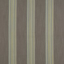 Mineral/Citron Stripes Drapery and Upholstery Fabric by Clarke & Clarke