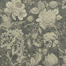 Charcoal Drapery and Upholstery Fabric by Clarke & Clarke