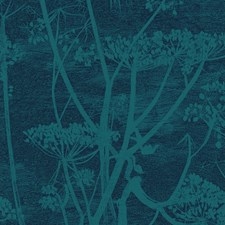 Petrol/Ink Botanical Drapery and Upholstery Fabric by Cole & Son