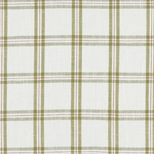 Olive Plaid Drapery and Upholstery Fabric by Clarke & Clarke