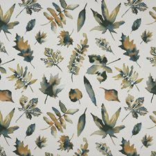 Cream Leaf Drapery and Upholstery Fabric by Clarke & Clarke