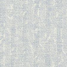 Denim Herringbone Drapery and Upholstery Fabric by Clarke & Clarke