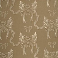 White/Natural Print Drapery and Upholstery Fabric by Mulberry Home
