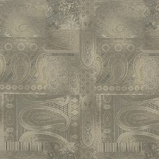 Warm Grey Print Drapery and Upholstery Fabric by Mulberry Home