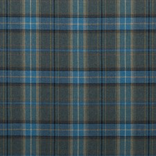 Blue Plaid Drapery and Upholstery Fabric by Mulberry Home