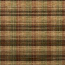 Burnt Orange/Green/Nutmeg Check Drapery and Upholstery Fabric by Mulberry Home