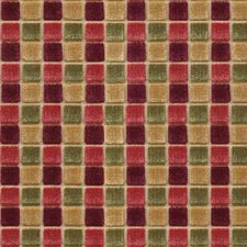 Plum/Sage Geometric Drapery and Upholstery Fabric by Mulberry Home