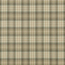 Sage/Aqua Check Drapery and Upholstery Fabric by Mulberry Home