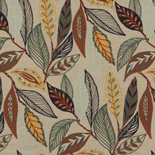 Indigo/Teal Embroidery Drapery and Upholstery Fabric by Mulberry Home