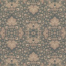 Blue/Stone Ethnic Drapery and Upholstery Fabric by Mulberry Home