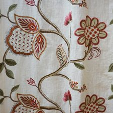 Brown/Burgundy/Red Traditional Drapery and Upholstery Fabric by JF