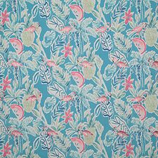 Tropic Print Drapery and Upholstery Fabric by Pindler