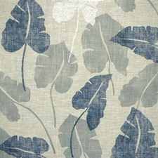 Blue Botanical Drapery and Upholstery Fabric by Groundworks