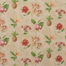Beige/Pink/Yellow Botanical Drapery and Upholstery Fabric by Kravet