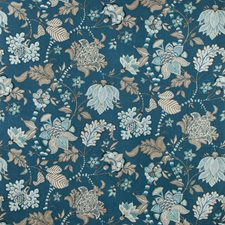 Blue/Taupe/Spa Botanical Drapery and Upholstery Fabric by Kravet