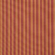 Red Stripes Drapery and Upholstery Fabric by Groundworks