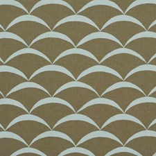 Sand/Aqua Contemporary Drapery and Upholstery Fabric by Groundworks