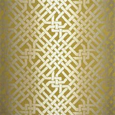 Saffron Lattice Drapery and Upholstery Fabric by Groundworks