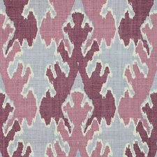 Magenta Print Drapery and Upholstery Fabric by Groundworks