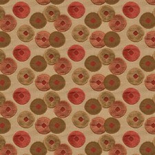 Orange Dots Drapery and Upholstery Fabric by Groundworks